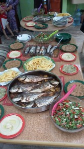 the feast they prepared for our arrival