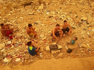bbq on the filthy beach