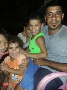 Hussein and his kids