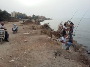 teenagers fishing