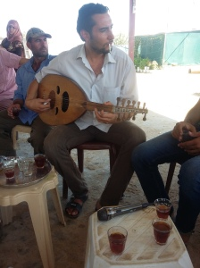 Lute player and former Lawyer, Abu Khaled