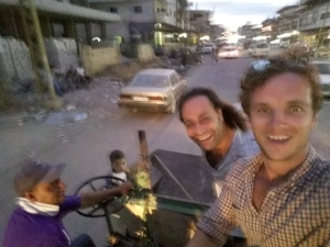 when we got back to Nahr al Bared we hitched a ride on a wee tractor, as you do